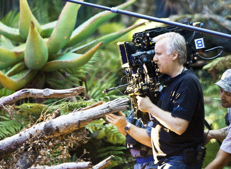 Cameron filming